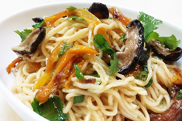 Chinese sesame lo-mein noodles.