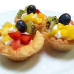 Fresh Fruit Tarts with Vanilla Cream Cheese.