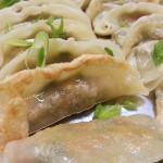Assorted Gyoza and dumplings that accompanied a Japanese cuisine menu.