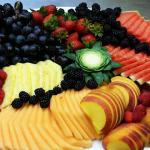 Fruit platter that accompanied a Ukrainian cuisine menu.