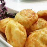 Gougeres: cheese pastry with gruyere cheese.