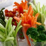 Vegetable crudités platter. Photo by Sierra Fish.