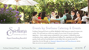 Events by Svetlana Catering & Events.
