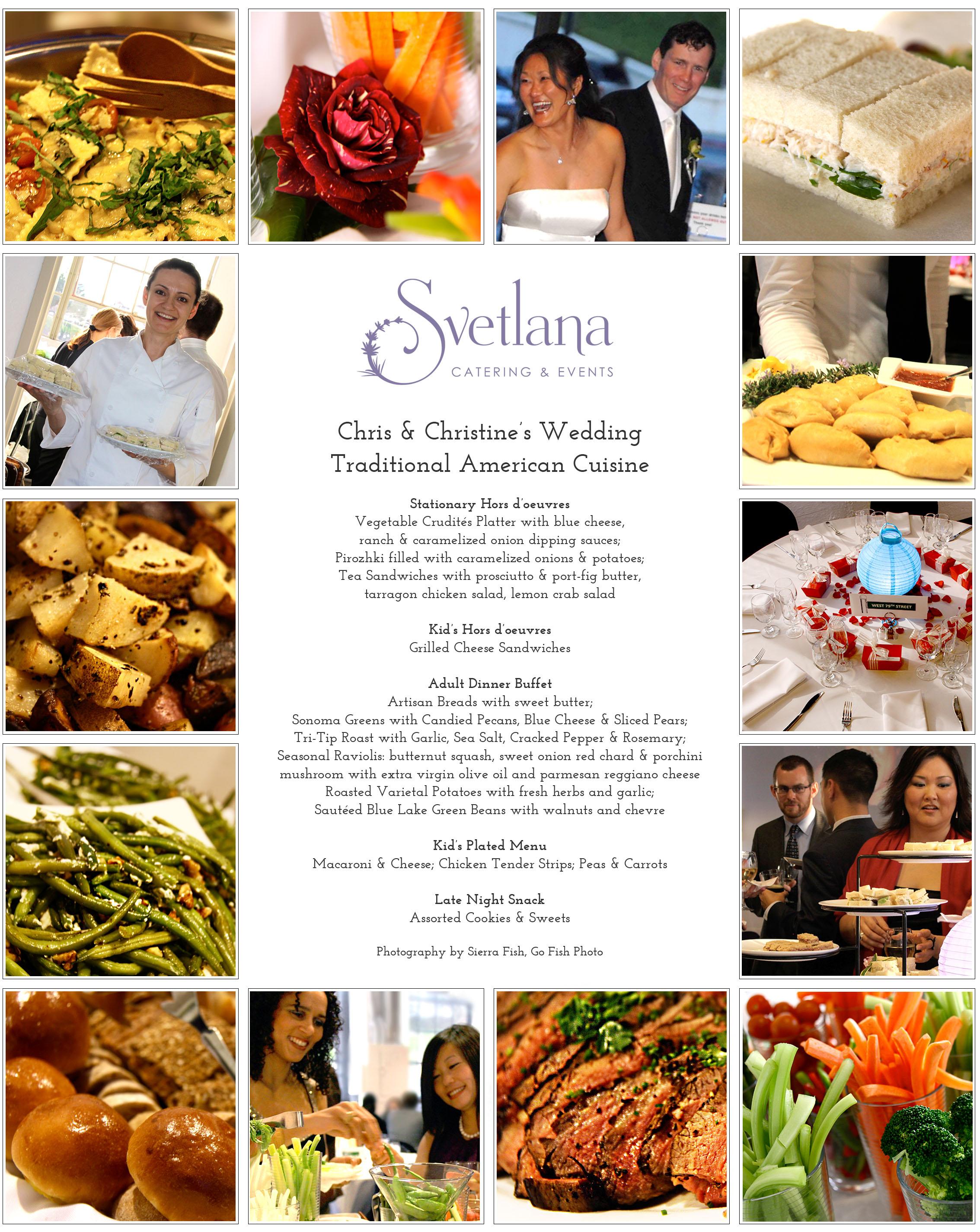 Click for menu (PDF).