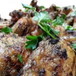 Meyer lemon and rosemary marinated chicken.