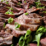 Roast beef with horseradish crema.