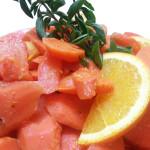Orange-Honey Glazed Carrots.