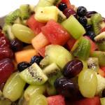 Seasonal fruit salad.