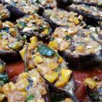 Bayildi – Turkish-Style Vegetarian Stuffed Eggplant. Accompanied a Turkish menu.