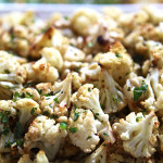 Crispy cauliflower with pine nuts, fennel seeds, garlic, white wine and fresh mint. Accompanied California cuisine menu. Photo by Sierra Fish.