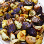 Roasted potatoes with whole grain mustard and parsley. Photo by Sierra Fish.