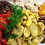 Roasted veggies. Accompanied a Ukrainian menu.