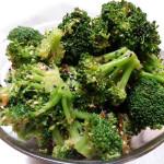 Sesame-ginger broccoli. Accompanied a Korean menu.
