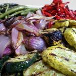 Vegetables salteados. Accompanied a Peruvian menu.