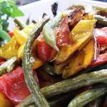 Vegetales salteados. Accompanied a Mexican menu.