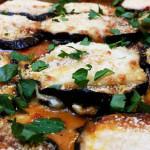 Eggplant parmesan. Accompanied an Italian menu.