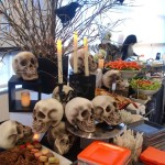 Centerpiece with Halloween written all over it!