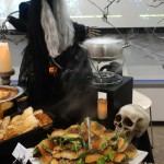 Grilled Salmon Sandwiches with herbed mayonnaise and greens... and a witch!