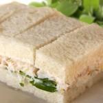 Lemon crab salad tea sandwiches.