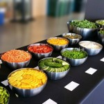 Salad bar for corporate luncheon.